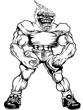 Football Comets Mascot Decal / Sticker 05