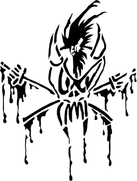 Metallica Scary Guy Decal / Sticker 20