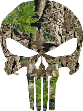 Camouflage Punisher Decal / Sticker 50