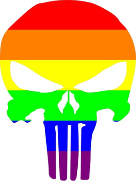 LGBT Flag Punisher Decal / Sticker