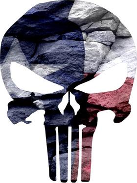 Texas Flag Punisher Decal / Sticker 108