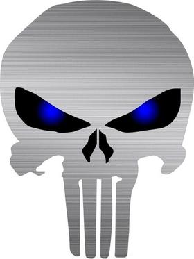 Brushed Blue Eyed Punisher Decal / Sticker 122
