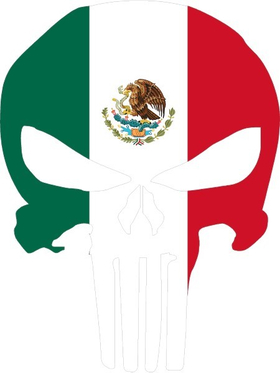Mexian Flag Punisher Decal / Sticker 132