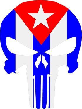 Cuban Flag Punisher Decal / Sticker 171