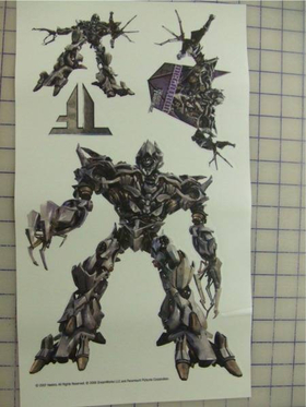 Transformers Megatron Peel and Stick Decals / Stickers