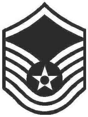 Air Force Master Seargent 03 Decal / Sticker