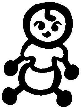 Baby Stick Figure Decal / Sticker 04