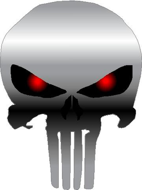 Red Eyed Punisher Decal / Sticker 19