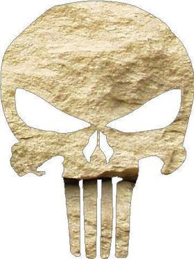 Bone Colored Punisher Decal / Sticker 07