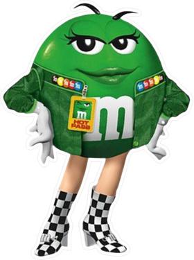 Green NASCAR M&M Decal / Sticker 57