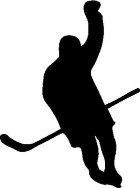 Hockey Player Decal / Sticker 02