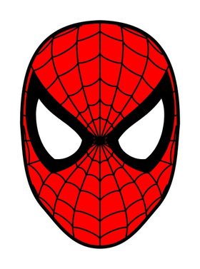 Spiderman Face Decal / Sticker 12