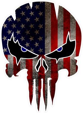 American Flag Punisher Decal / Sticker 142