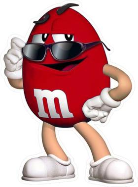 Red M&M Decal / Sticker 62