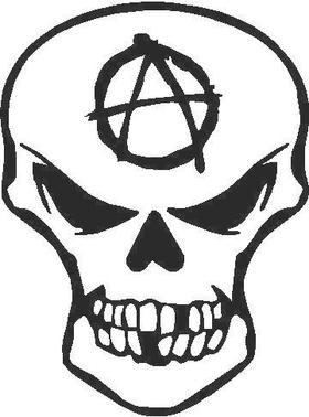 Anarchy Skull Decal / Sticker 09
