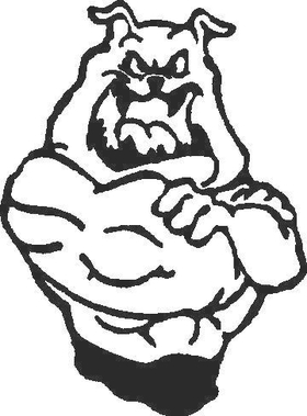 Bulldog Decal / Sticker 09