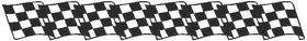 Checkered Flag Decal / Sticker 72