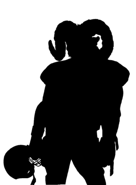 Football Rams Mascot Decal / Sticker 1