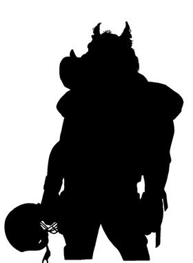 Football Razorbacks Mascots Decal / Sticker 1