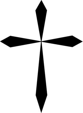 Christian Cross Decal / Sticker 25