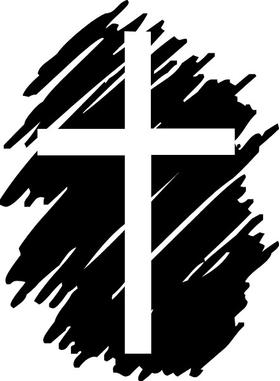 Christian Cross Decal / Sticker 87