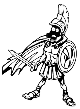 Trojans Mascot Decal / Sticker
