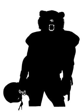 Football Bear Mascot Decal / Sticker 01