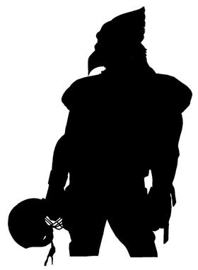 Football Cardinals Mascot Decal / Sticker 1