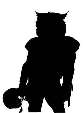 Football Owls Mascot Decal / Sticker 1