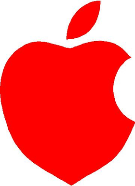 I love-heart Apple Decal / Sticker