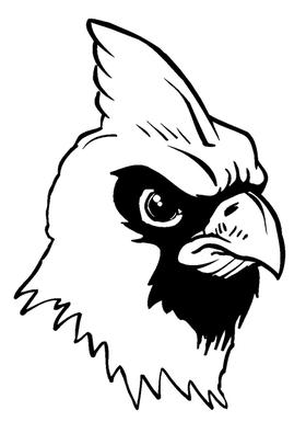 Cardinals Mascot Decal / Sticker 3