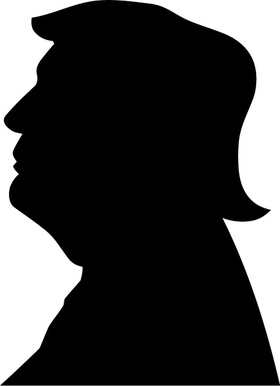 TRUMP Bust Profile Decal / Sticker 15