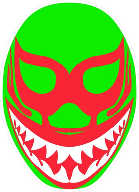 Mil Mascaras Decal / Sticker 03