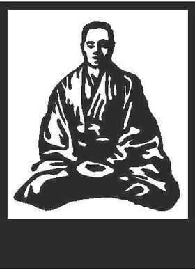 Buddha Decal / Sticker 02