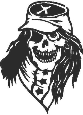 Confederate Skull Decal / Sticker