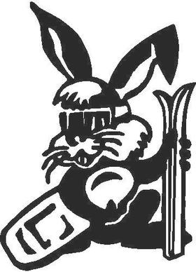 Ski Bunny Decal / Sticker