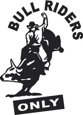 Bull Riders Only Decal / Sticker