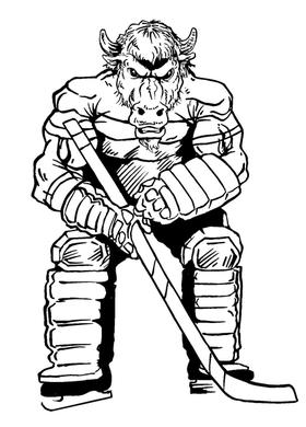 Hockey Buffalo Mascot Decal / Sticker hk2