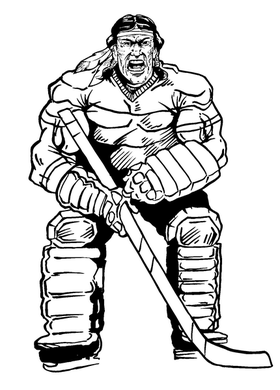 Hockey Braves / Indians / Chiefs Mascot Decal / Sticker hk2