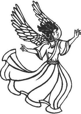 Angel 02  Decal / Sticker
