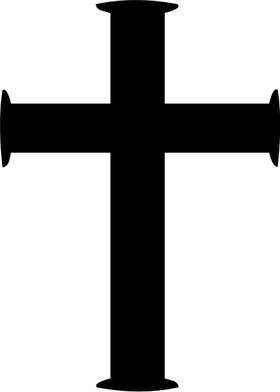 Christian Cross Decal / Sticker 06