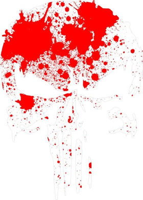 Blood Spatter Punisher Decal / Sticker 157