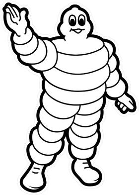 Michelin Man Decal / Sticker 17