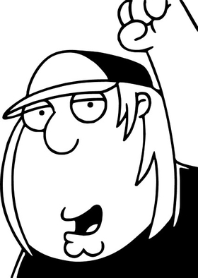 Family Guy Chris Griffin Decal / Sticker 01