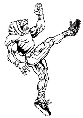 Football Tigers Mascot Decal / Sticker 10
