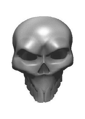 3D Carbon Fiber Skull 04 Decal / Sticker