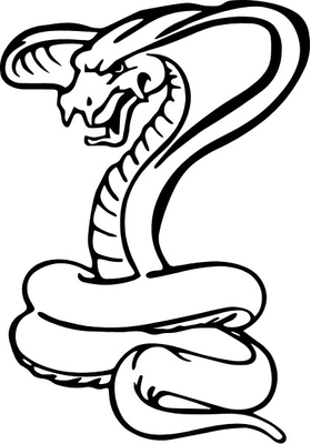Cobra Decal / Sticker 08
