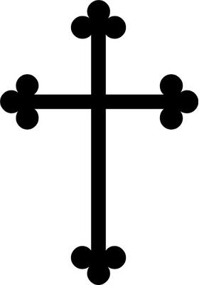 Christian Cross Decal / Sticker 23