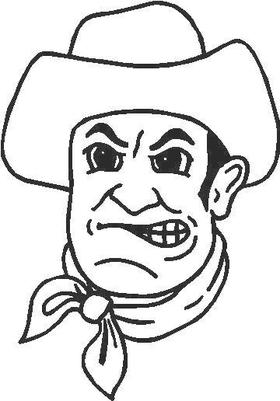Cowboy Decal / Sticker 04