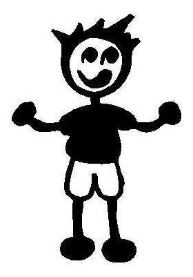 Shorts Boy Stick Figure Decal / Sticker 08